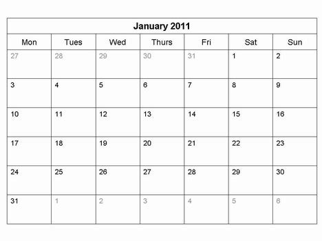 calendar template for powerpoint free 2011 monthly calendar template
