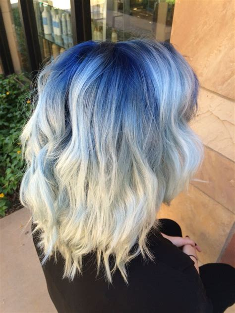 blue shadow root  platinum blonde hair styles dyed