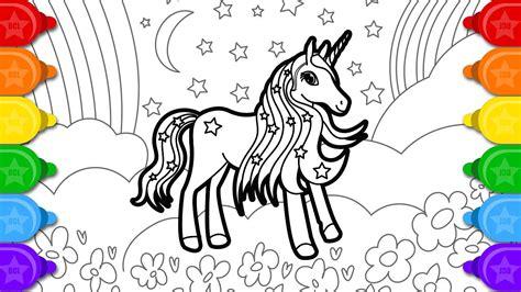 glitter unicorn  pretty coloring  drawing