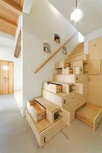 Treppe Mit Schubladen : platzsparende treppen 32 innovative ideen treppen schubladen stauraum unter ~ Watch28wear.com Haus und Dekorationen