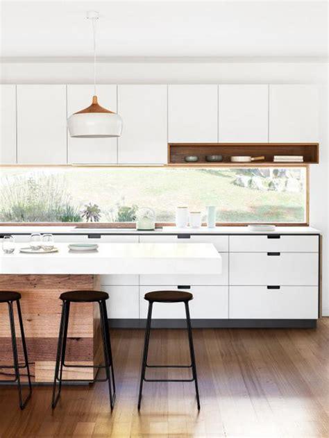 cuisine moderne blanc et bois la cuisine blanche et bois en 102 photos inspirantes