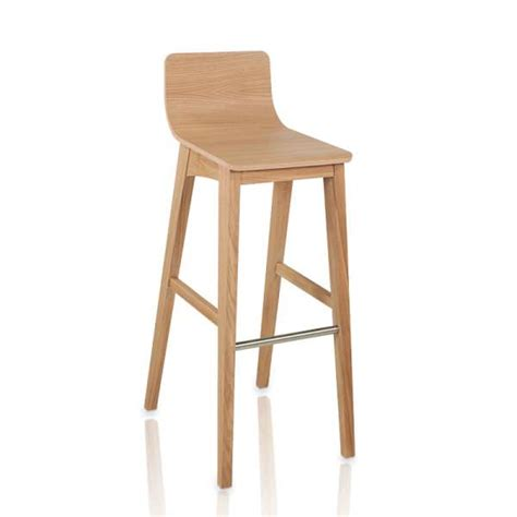 chaise de bar 4 pieds tabouret de bar ou snack moderne en bois enoa 4 pieds tables chaises et tabourets