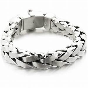 Bracelet En Argent Homme : bracelet homme gourmette large palmier carr en argent massif mylittlefantaisie ~ Carolinahurricanesstore.com Idées de Décoration
