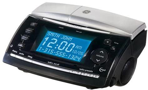 Bedroom Radio Alarm Clocks by Ge 27980ge3 2 4 Ghz Cordless Phone With Bedroom Clock
