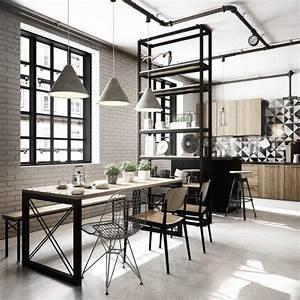design scandinave salle a manger en 58 idees inspirantes With salle À manger contemporaine avec credence cuisine scandinave