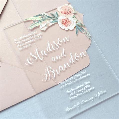 madison acrylic wedding invitation clear acrylic