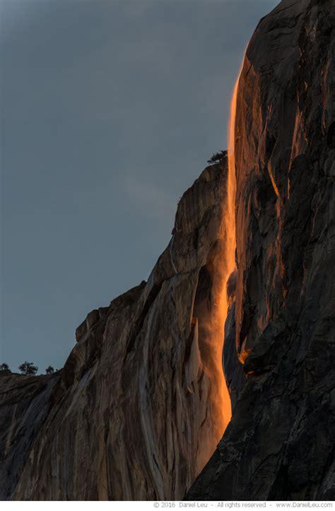 glowing horsetail fall daniel leu photography