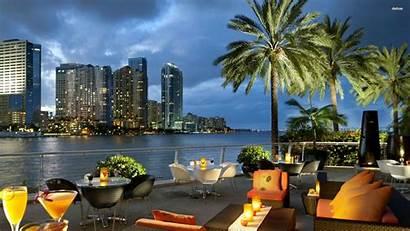 Miami Florida Wallpapers Desktop Places Beach Skyline