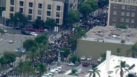 FOX 5 San Diego - Downtown San Diego protest, June 4 ...
