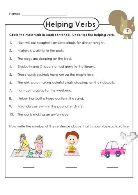 helping verbs worksheet language free