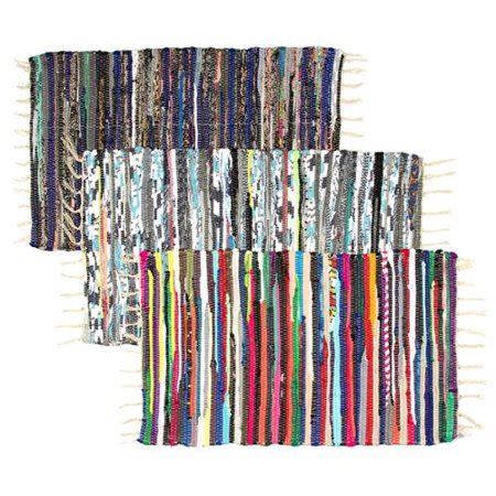 Rag Rugs Walmart by Set Of 2 Chindi Rag Rugs 20 Quot X32 Quot Multi Colored Recycled
