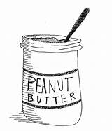 Butter Peanut Coloring Pages Jelly sketch template