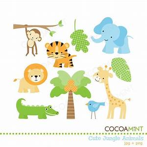 Cute Jungle Animals Clip Art | Jungle animals, Clip art ...
