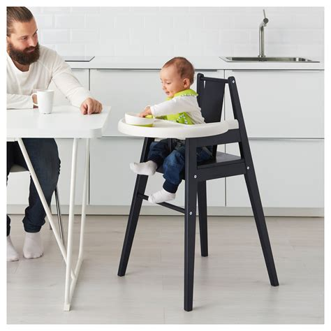 chaise 3 en 1 blåmes highchair with tray black ikea