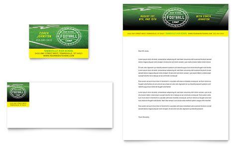 football training business card letterhead template design