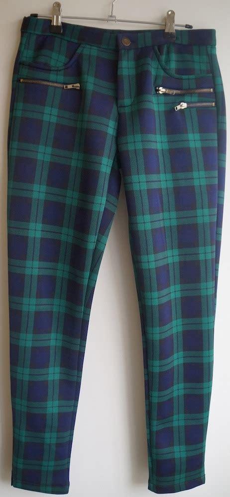 scuba greenblue plaid pants  storenvy