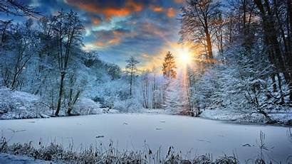 Winter Snow Landscape 4k Trees Nature Wallpapers