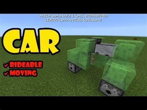 car tutorial minecraft pe redstone contraption