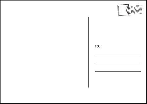 postcard clipart template pencil   color postcard