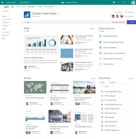 turn on sharepoint online site templates organize your intranet with sharepoint hub sites in office 365