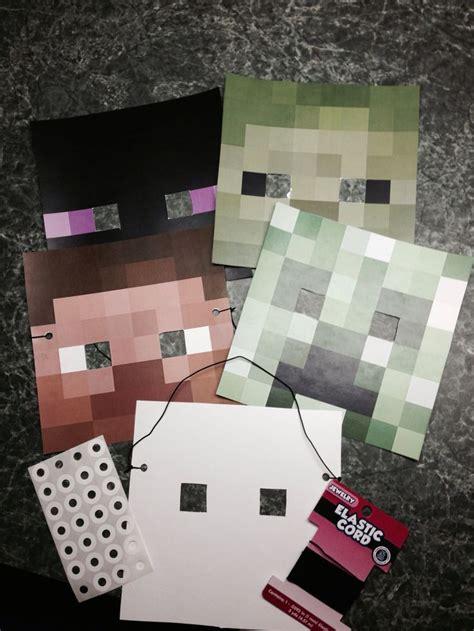 minecraft mask template 67 best birthday ideas images on birthdays minecraft stuff and minecraft crafts