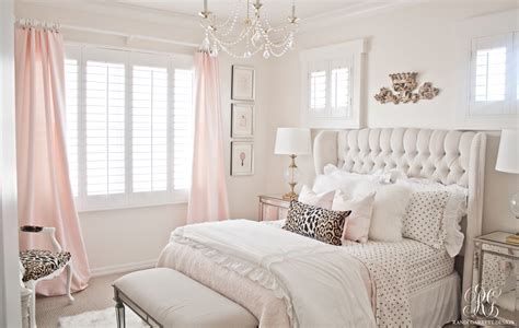 pink  gold girls bedroom makeover randi garrett design