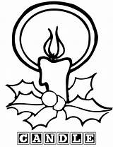 Candle Coloring Pages Birthday Sheet sketch template