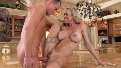 Cougar Brandi Love Is Slammed Up By A Young Cock Against