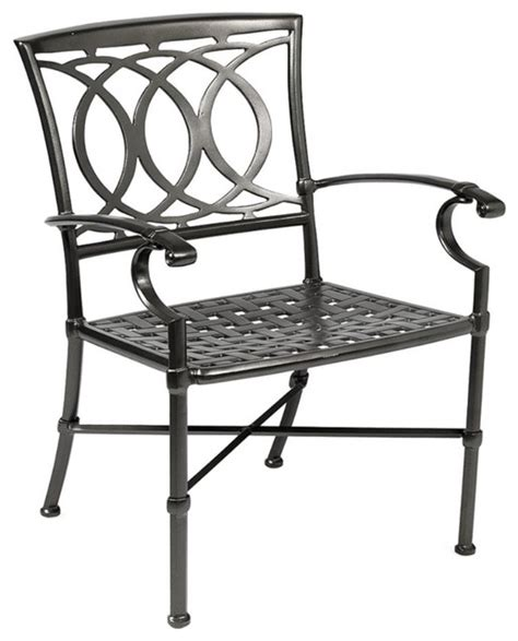 winston marseille cast aluminum dining chair modern