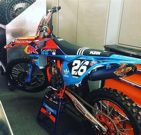 best 125 motocross bike troy lee designs red bull ktm 39 s washougal graphics moto