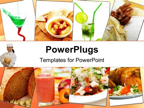 food powerpoint template powerpoint template collage of healthy assorted indian dishes with chef 12705