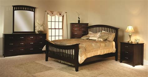 cambrai mission  piece bedroom set  brown maple