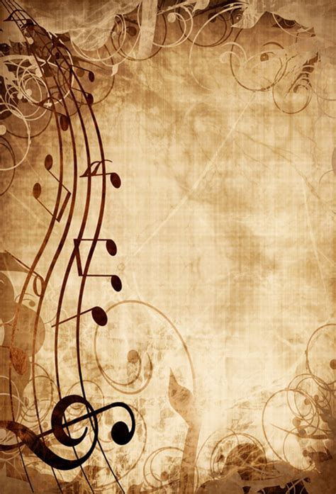 Outer Space Background Images Shop Old Music Sheet With Musical Notes Wallpaper In Music Theme