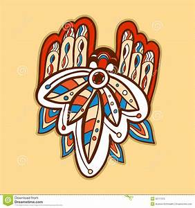 Background With Incas Ornament Stock Illustration - Image ...