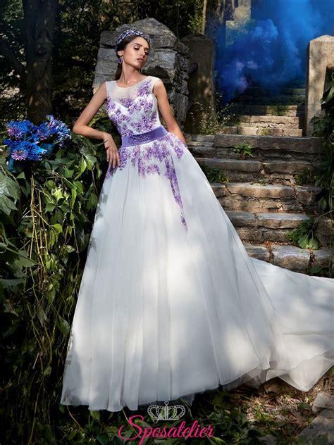 Tutti questi abito da sposa cercasi sono il prezzo bello e basso. vestiti da sposa con ricami in pizzo color lilla online economici collezione 2017Sposatelier
