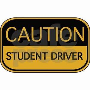 caution student driver hat by brightdesign With kitchen colors with white cabinets with student driver sticker