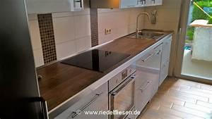 Küchen In Holzoptik : k chenarbeitsplatte riedel fliesen westhofen ~ Markanthonyermac.com Haus und Dekorationen