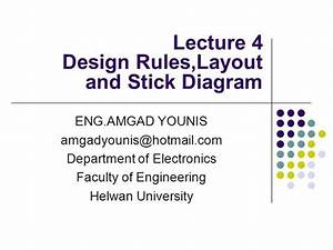 Vlsi Design Rules Layout And Stick Diagram Lecture04