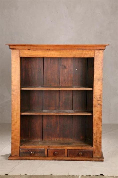 Small Cloth Cupboard by 1463 Open Hanging Cupboard Curly Maple With Three Sma