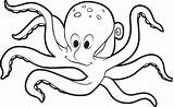 Coloring Octopus Printable Pages Drawing Outline Printables Getdrawings Octopuses Legs sketch template