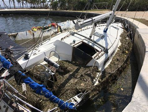 Boat Salvage After Hurricane by Salvage Operations After Hurricane Irma Continue In