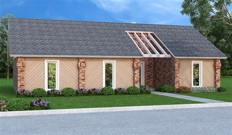 Easy-to-build 3 Bed Ranch Home Plan
