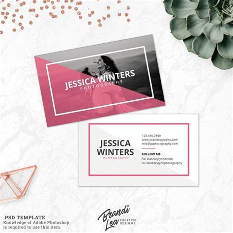 instant  business card photoshop template