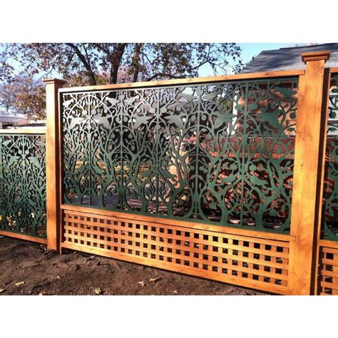 acurio latticeworks tree  life  ft    black vinyl decorative screen panel pvcbk