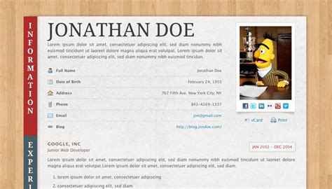 Cvs Resume Paper by 20 Creative Resume Website Templates To Improve Your