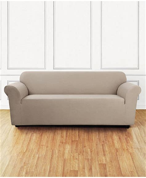 macys sofa covers sure fit stretch delicate leaf one sofa slipcover