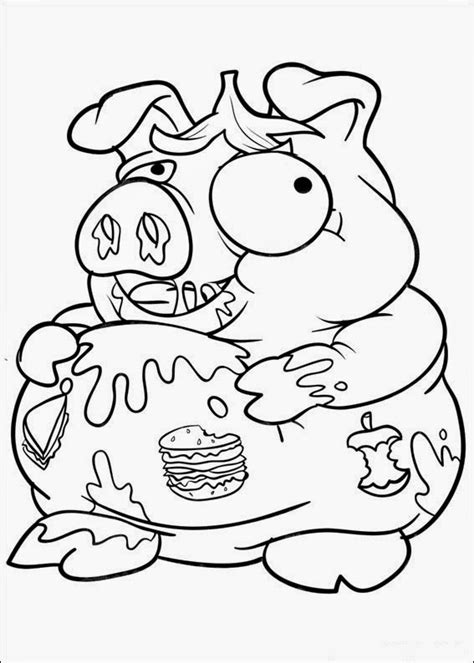 fun coloring pages trash coloring pages