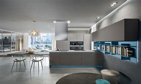 cuisine turquoise et gris linea design arredamenti cucine arrital