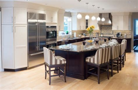 kitchens with large islands curved kitchen island on