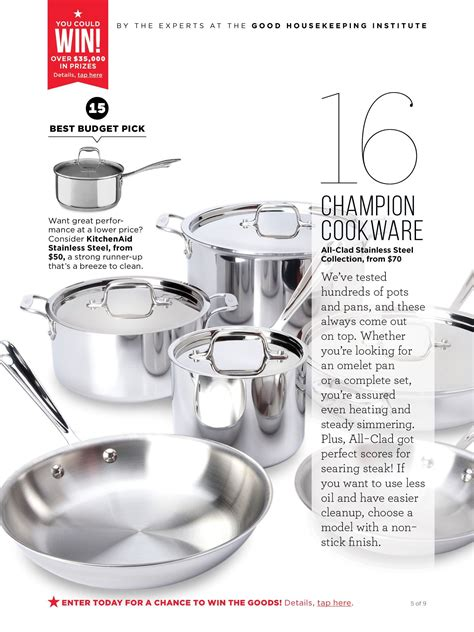 housekeeping cookware budget stainless steel recipes